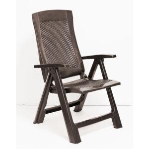 GOLD 5 pozíciós műanyag kerti szék