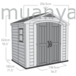 FACTOR 8x6 fahatású műanyag kültéri ház