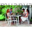 KETER- Harmony műanyag kerti asztal 6 db karfás székkel