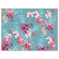 P.W.PPR000100 Magnolia papír tányéralátét 40x29cm,24db-os