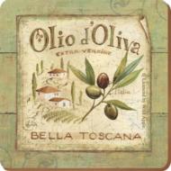 C.T.5169653 Parafa poháralátét 6db-os 105x105mm, Olio d'Oliva