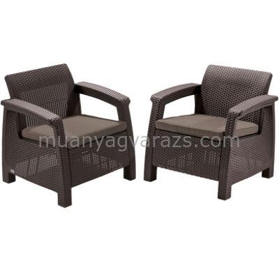 Allibert - Corfu duo fotel 2 részes műrattan garnitúra