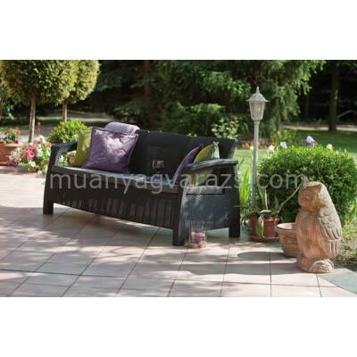 Corfu love kanapé 3 személyes műrattan garnitúra
