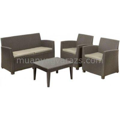 Corona lounge szett 4 részes műrattan garnitúra asztallal