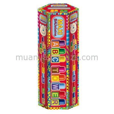 Maxi ABC torony építőkocka
