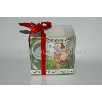 Karácsonyi bögre díszdobozban 2,5 dl