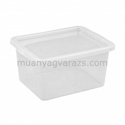 Átlátszó műanyag fedeles tárolódoboz 48 L