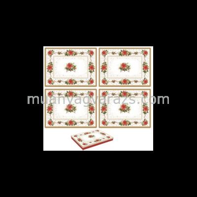 R2S.961POIN Parafa tányéralátét 40x30cm 4db-os,Poinsettia