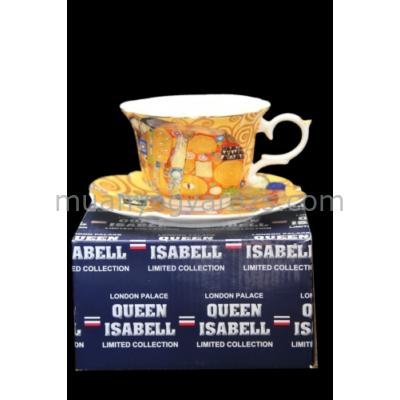 P.P.W3I01-25556 Pocelán csésze + alj: Klimt:Beteljesülés