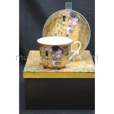 P.P.W4A41-16452 Nagy csésze+alj, Klimt: The Kiss