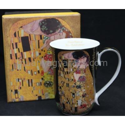 P.P.W6B59-16586 Porcelán bögre Klimt: The Kiss, 400ml