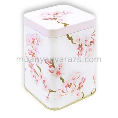T.M.63481728 Cherry Blossom konyhai fémdoboz 71x71x93mm