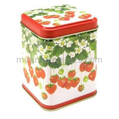 T.M.63781728 Summer Fruits konyhai fémdoboz 71x71x93mm