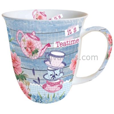 AMB.18409280 It's Teatime porcelán bögre 04,l