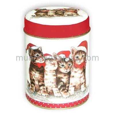 T.M.66131732 Singing Cats konyhai fémdoboz 119x111x30mm