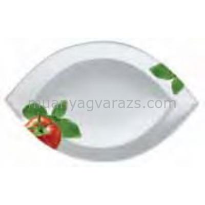 PPD.T810688 Porcelán tányér ovál kicsi 11x17cm,Italian Tomatoes