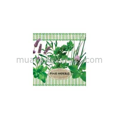 PPD.B006416 Fine Herbs papírszalvéta 25x25cm,20db-os