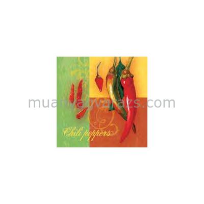 PPD.C006929 Chilli Peppers Culinare papírszalvéta 33x33cm,20db-os