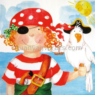 PPD.C1331519 Pirate Girl papírszalvéta 33x33cm,20db-os