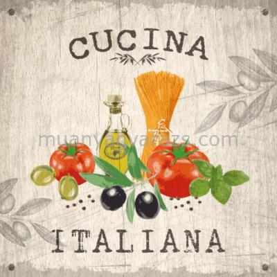PPD.C1331619 Cucina Italiana wood papírszalvéta 33x33cm,20db-os