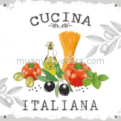 PPD.C1331620 Cucina Italiana white papírszalvéta 33x33cm,20db-os