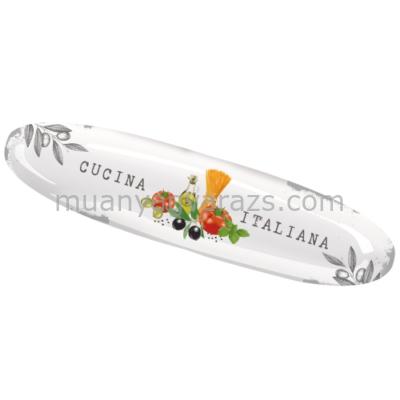 PPD.P602533 Porcelán csónak alakú kínáló 39x7cm,Cucina Italiana