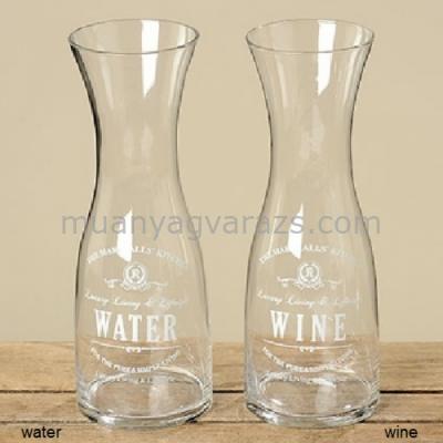 B.B.55349 Üveg palack Water/Wine 28cm