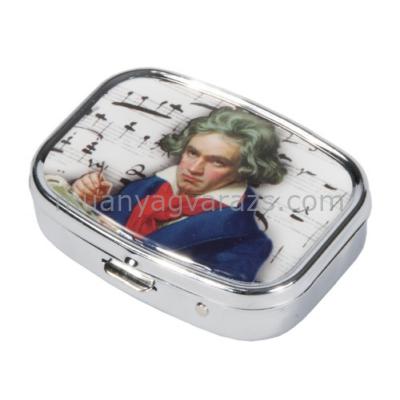 FRI.18266 Gyógyszeres fémdoboz 5,1x1,8x3,6cm, Beethoven
