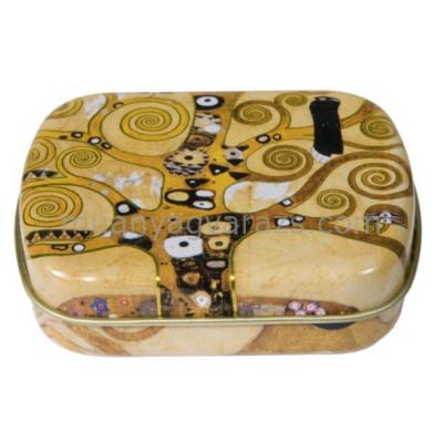 FRI.18612 Fémdoboz 6,3x1,8x5,2cm, Klimt: Életfa