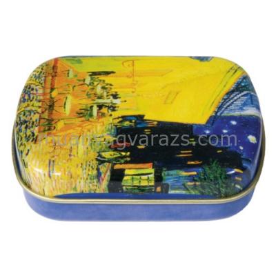 FRI.18631 Fémdoboz 6,3x1,8x5,2cm, Van Gogh:Kávéház éjjel