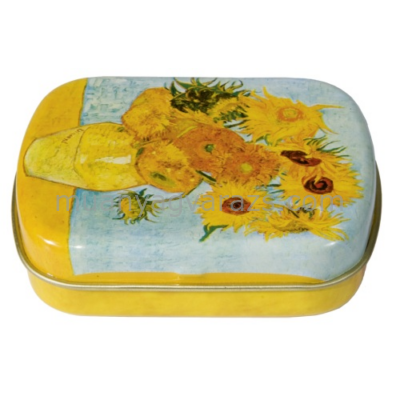 FRI.18632 Fémdoboz 6,3x1,8x5,2cm, Van Gogh:Napraforgók