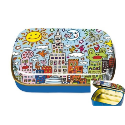 FRI.18646 Fémdoboz 6,3x1,8x5,2cm,James Rizzi:My New York City