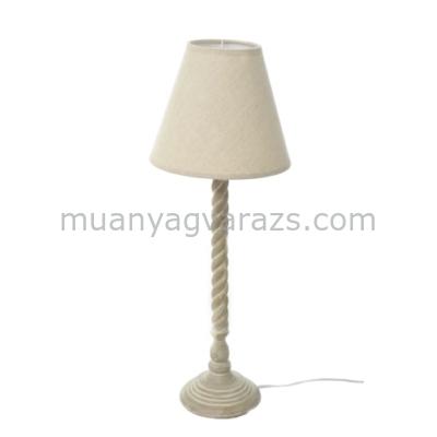 J.18591 Asztali lámpa csavart, natúr ernyővel 13x47cm