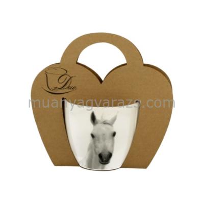 D.G.12583 Porcelán bögre fehér lovas,460ml