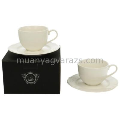 D.G.13702 Porcelán csésze+alj,2 személyes,dobozban,170ml,Luxury