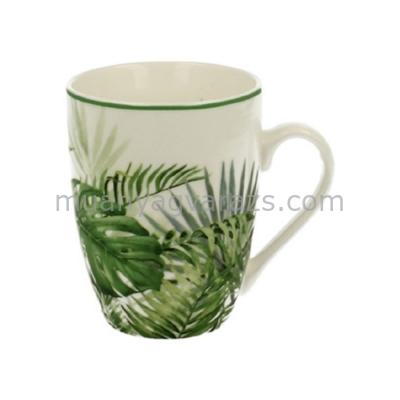 D.G.10510A Porcelán bögre Trópusi levelekkel,330ml