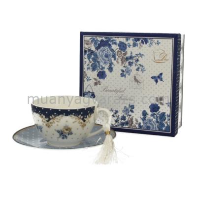 D.G.00450 Porcelán teáscsésze+alj 250ml,dobozban,Alaska