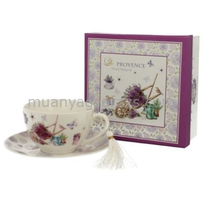 D.G.00528 Porcelán teáscsésze+alj 250ml,dobozban,Prowansja