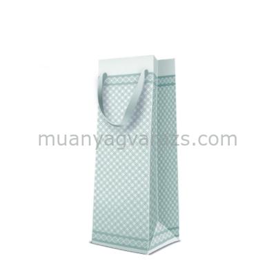 P.W.AGB3001904  Premium Modern papír ajándéktáska italos 12x37x10cm
