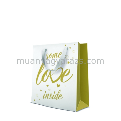 P.W.AGB3001703 Premium Some Love Inside papír ajándéktáska medium 20x25x10cm