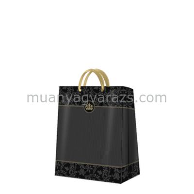 P.W.AGB022603 Gold Crown papír ajándéktáska medium premium,20x25x10cm