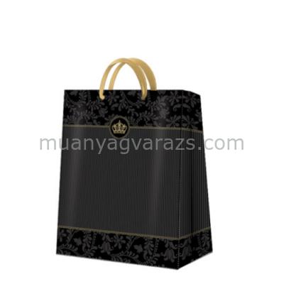 P.W.AGB021505 Premium Gold Crown papír ajándéktáska large,26,5x33,5x13cm