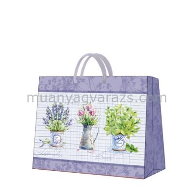 P.W.AGB016806 Basil & Lavender papír ajándéktáska horizontal 33,5x26,5x13cm
