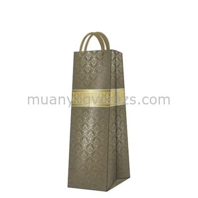 P.W.AGB022704  Gold Fortune papír ajándéktáska italos premium,12x37x10cm