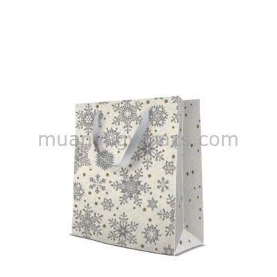 P.W.AGB031703 Glowing Stars silver papír ajándéktáska medium premium 20x25x10cm