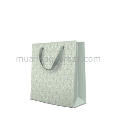P.W.AGB1002703 Pastel Ornament Mint papír ajándéktáska medium,20x25x10cm