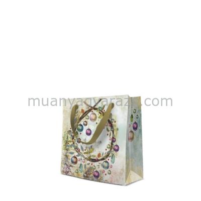 P.W.AGB2000210 Crystal Baubles papír ajándéktáska Cd-s 17x17x6cm