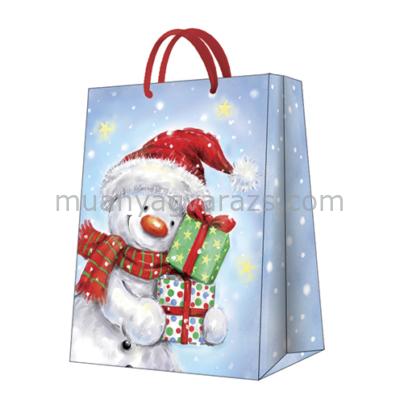 P.W.AGB2000802 Funny Snowman papír ajándéktáska big 30x41x12cm