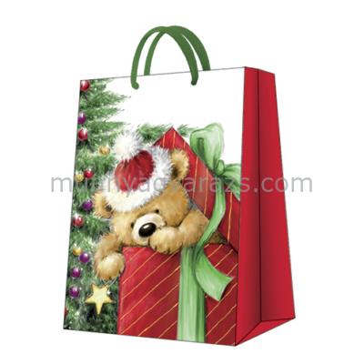 P.W.AGB2000902 Teddy Bear Gift papír ajándéktáska big 30x41x12cm