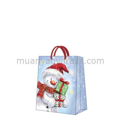 P.W.AGB2000803 Funny Snowman papír ajándéktáska medium 20x25x10cm